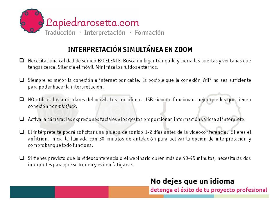 decálogo interpretación remota simultánea Zoom_español_ejemplo