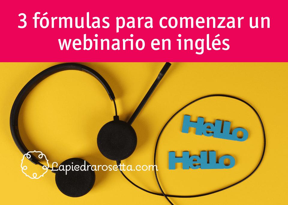 fórmulas cómo comenzar una videollamada en inglés