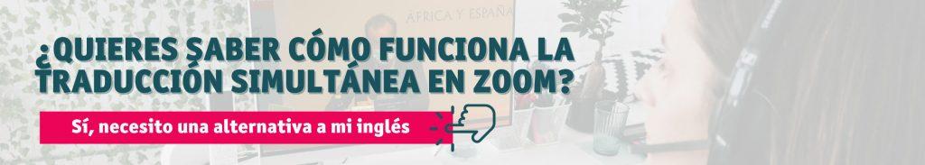 traducción simultánea por Zoom cómo funciona